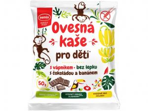 SEMIX Ovesná kaše pro děti s vápníkem s čokoládou a banánem 50 g