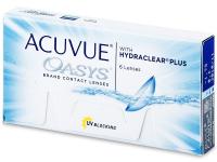 JOHNSON Acuvue Oasys Plus dvoutýdenní kontaktní čočky 6 kusů, Počet dioptrií: -0,50, Počet kusů v balení: 6 ks, Průměr: 14,0, Zakřivení: 8,4