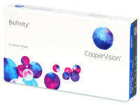 COOPERVISION Biofinity měsíční čočky 6 kusů, Počet dioptrií: -0,50, Počet kusů v balení: 6 ks, Průměr: 14,0, Zakřivení: 8,6