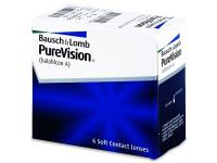 BAUSCH & LOMB PureVision měsíční čočky 6 kusů, Počet dioptrií: -2,50, Počet kusů v balení: 6 ks, Průměr: 14,0, Zakřivení: 8,6