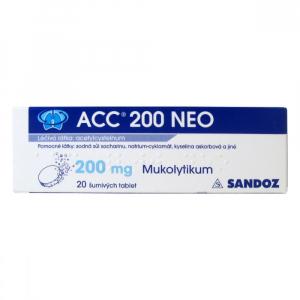 ACC 200 NEO 20x200 mg šumivých tablet