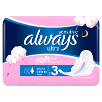 ALWAYS Ultra Sensitive Night Vložky s křidélky 7 ks