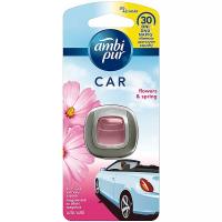 AMBI PUR Car Flowers & Spring připínací osvěžovač vzduchu 2 ml