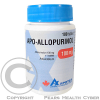 APO-ALLOPURINOL  100X100MG Tablety