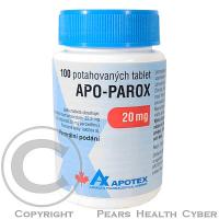 APO-PAROX  100X20MG Potahované tablety