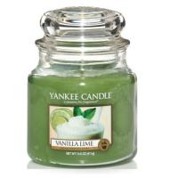 YANKEE CANDLE Classic střední Svíčka Vanilla Lime 411 g