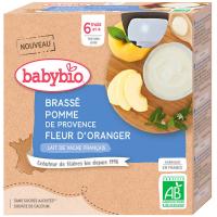 BABYBIO Brassé jablko pomerančový květ 4x85 g