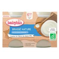 BABYBIO Brassé z francouzského mléka natur 2x130 g
