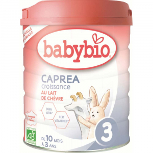 BABYBIO Caprea 3 Pokračovací plnotučné kozí kojenecké mléko od 10 měsíce do 3 let BIO 800 g