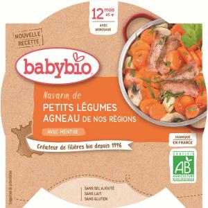 BABYBIO Denní menu Dušená zelenina s jehněčím masem 230 g