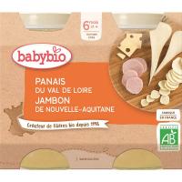 BABYBIO Denní menu Pastinák, šunka a sýr gruyère 2x200 g