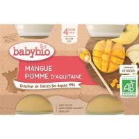 BABYBIO Jablko s mangem 2x130 g