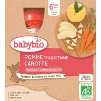 BABYBIO Jablko s mrkví 4 x 90 g