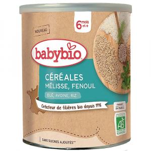 BABYBIO Nemléčná kaše s meduňkou, fenyklem a skořicí 220 g