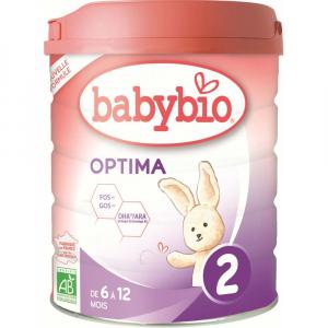BABYBIO Optima 2 Pokračovací kojenecké mléko od 6-12 měsíců BIO 800 g