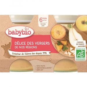 BABYBIO Ovocná směs 2x130 g