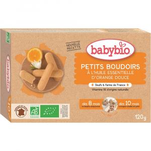 BABYBIO Piškoty s esenciálním olejem sladkého pomeranče 120 g