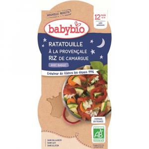 BABYBIO Ratatouille po provensálsku s rýží 2x200 g