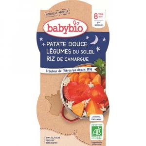 BABYBIO Sladké brambory s letní zeleninou 2x200 g