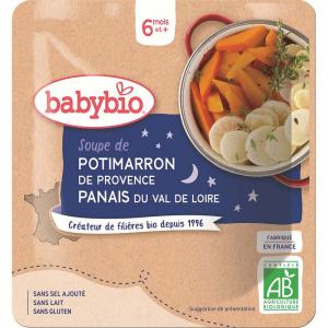 BABYBIO Večerní menu dýňová polévka s pastinákem 190 g