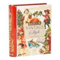 BASILUR Book Vintage Style pyramid černý čaj 5 sáčků
