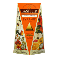 BASILUR Fruit Infusions Blood Orange pyramid 1+1 ZDARMA