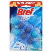 BREF Blue Aktiv Eucalyptus tuhý WC blok 2x50 g
