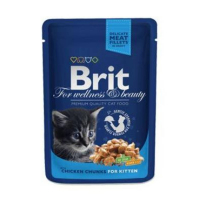 BRIT Premium Cat kapsa Chicken Chunks for Kitten 100 g