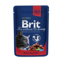 BRIT Premium Cat kapsa with Beef Stew & Peas 100 g