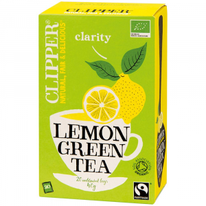CLIPPER Čaj Green tea with Lemon 20 sáčků