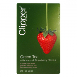 CLIPPER Čaj green tea with Strawberry 20 sáčků