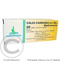 CALCII CARBONICI 0,5 TBL. MEDICAMENTA  50x0.5GM Tablety