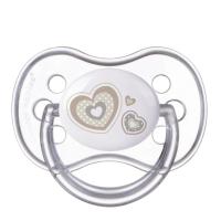 CANPOL BABIES Dudlík silikonový symetrický NEWBORN BABY 18+m béžový