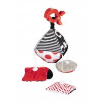 CANPOL BABIES Kontrastní plyšová hračka s klipem SENSORY
