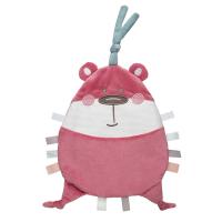 CANPOL BABIES Plyšový mazlíček PASTEL FRIENDS růžový medvídek