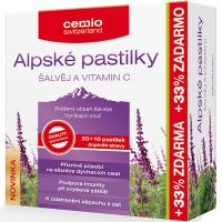 CEMIO Alpské pastilky šalvěj a vitamin C 30+10 pastilek