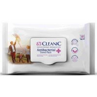 CLEANIC Antibacterial Vlhčené ubrousky 40 ks