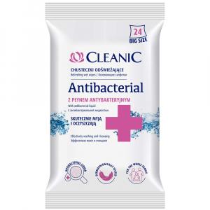 CLEANIC Antibacterial Vlhčené ubrousky 24 ks