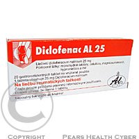 DICLOFENAC AL 25 25 mg 20 tablet