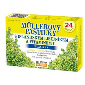 DR. MÜLLER Müllerovy pastilky s islandským lišejníkem a vitaminem C 24 pastilek