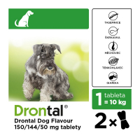 DRONTAL Dog flavour pro psy ( 5-20 kg ) a.u.v. 2 tablety