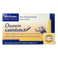 DUOWIN Contact Dog M (7,5 - 15 kg) 4 x 4 ml VÝPRODEJ exp. 28. 02. 2019
