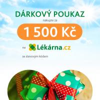 Elektronický dárkový poukaz v hodnotě 1500 Kč