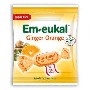 EM-EUKAL pastilky zázvor-pomeranč s s vitamíny bez cukru 50 g