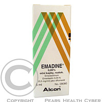 EMADINE 0,05% GTT OPH 1X5ML/2.5MG