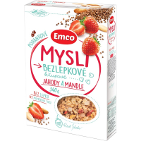 EMCO Mysli bezlepkové pohankové Jahody a mandle 340 g