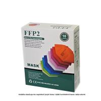 FFP2 Respirátor 10 ks Mix barev