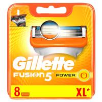 GILLETTE Fusion5 Power Náhradní hlavice pro muže 8 ks