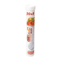 GS Extra C 500 šumivý červený pomeranč 20+5 tablet