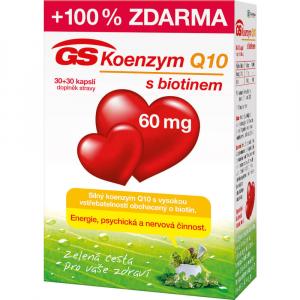 GS Koenzym Q10 s biotinem 60mg 30+30 kapslí ZDARMA